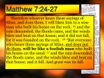 matthew 7 24 27
