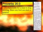 proverbs 20 3