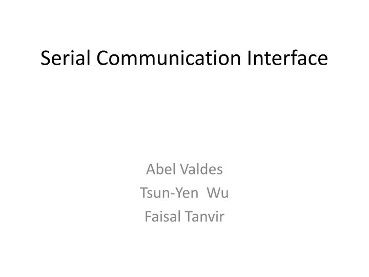 serial communication interface n.