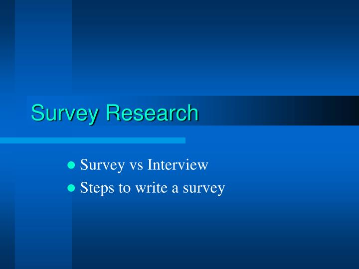 survey research n.