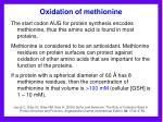 oxidation of methionine