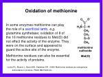 oxidation of methionine1