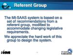 referent group