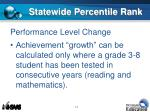 statewide percentile rank2