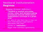 neoliberal institutionalism regimes