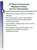an effective environmental management system has four characteristics