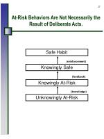 at risk behaviors are not necessarily the result of deliberate acts