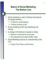 basics of social marketing the bottom line