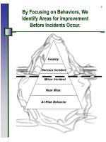 by focusing on behaviors we identify areas for improvement before incidents occur