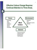 effective culture change requires continual attention to three areas