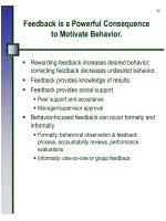 feedback is a powerful consequence to motivate behavior