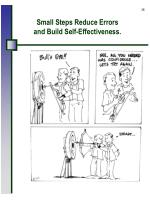 small steps reduce errors and build self effectiveness