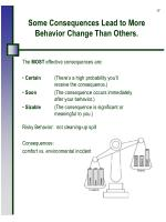 some consequences lead to more behavior change than others