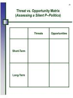threat vs opportunity matrix assessing a silent p politics
