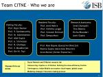 team citne who we are