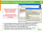 installation of components prerequisites2