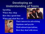developing an understanding of teens