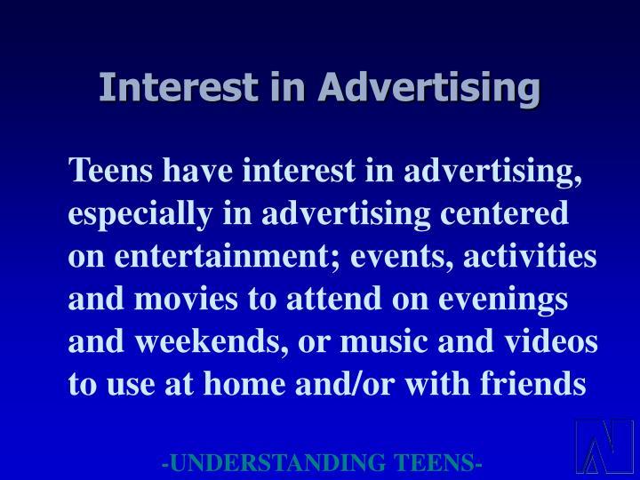 Interest in Advertising