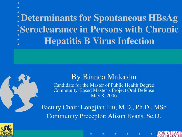 Determinants for Spontaneous HBsAg Seroclearance in Persons with Chronic Hepatitis B Virus Infection
