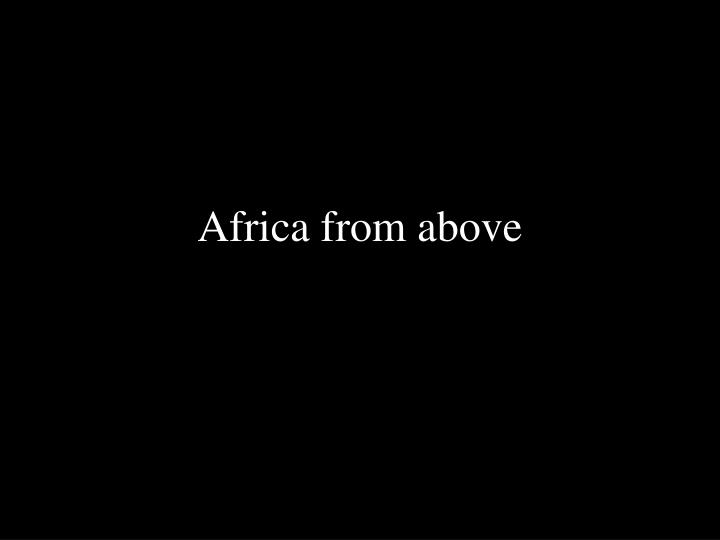 africa from above n.