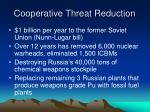 cooperative threat reduction