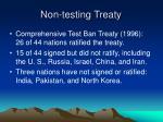 non testing treaty