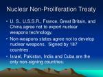 nuclear non proliferation treaty