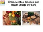 characteristics sources and health effects of fibers