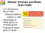 refined enriched and whole grain foods1