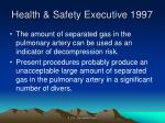 health safety executive 1997