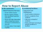 how to report abuse
