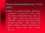 human immunodeficiency virus hiv