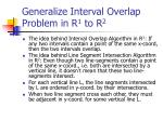 generalize interval overlap problem in r 1 to r 2