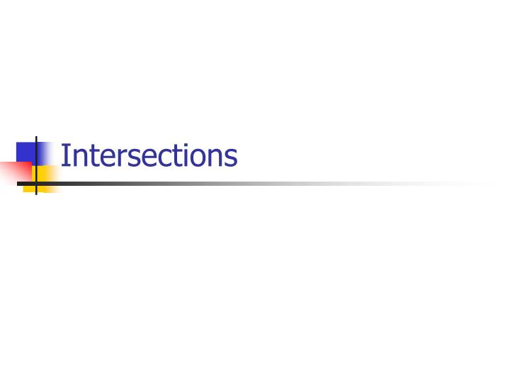 intersections n.