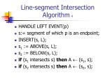 line segment intersection algorithm 4