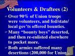 volunteers draftees 2