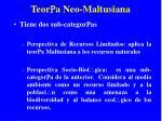 teor a neo maltusiana