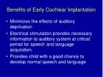 benefits of early cochlear implantation