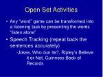 open set activities1