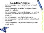 counselor s role
