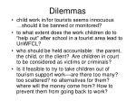 dilemmas