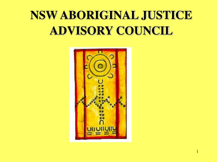 nsw aboriginal justice advisory council n.
