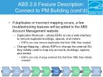abs 2 0 feature description connect to pm building cont d5