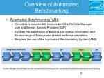 overview of automated benchmarking