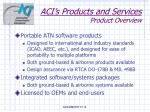 aci s products and services product overview