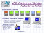 aci s products and services product service portfolio