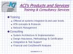 aci s products and services training consultancy services