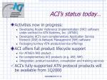 aci s status today