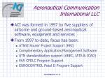 aeronautical communication international llc