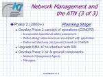 network management and the atn 3 of 3